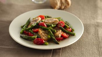 Honey-Dijon Turkey Tenderloins with Fresh Asparagus