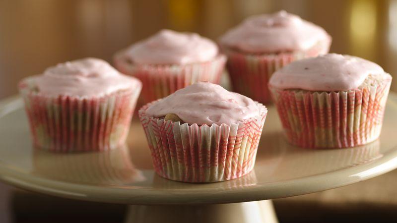Strawberry-Rhubarb Cupcakes