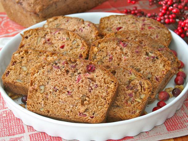 The BakerMama's cranberry walnut bread is tart, sweet, moist, crunchy ...