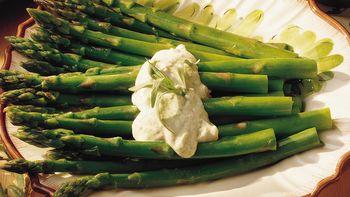 Steamed Asparagus with Tarragon Mayonnaise
