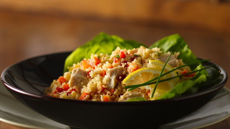 Confetti Chicken and Couscous Salad