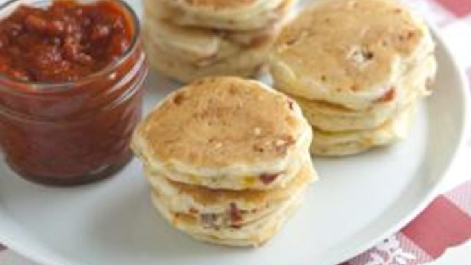 Mini Pizza Pancakes recipe - from Tablespoon!