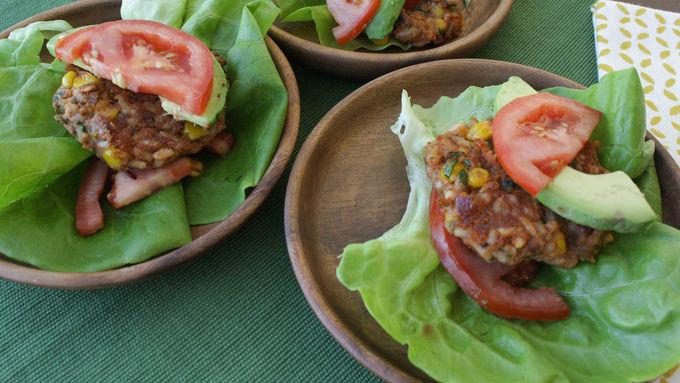 Veggie Burger Lettuce Wraps