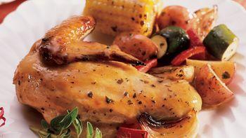Oven-Roasted Italian Chicken and Veggies