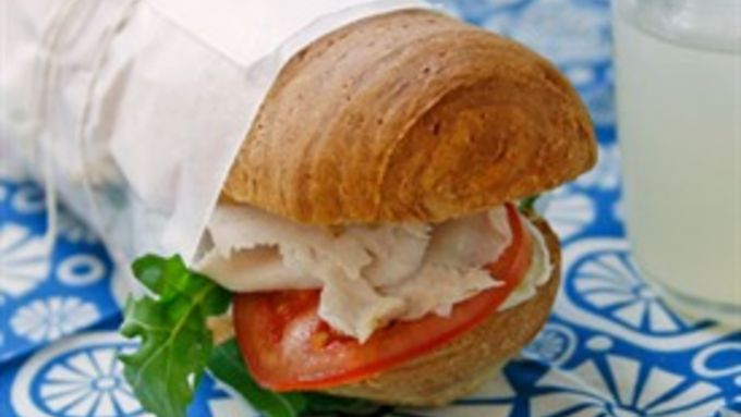 Turkey and Brie Baguette Sandwich