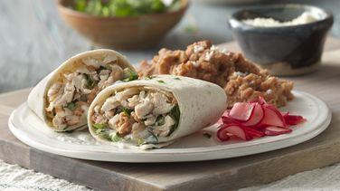 Easy Chicken and Bean Burritos