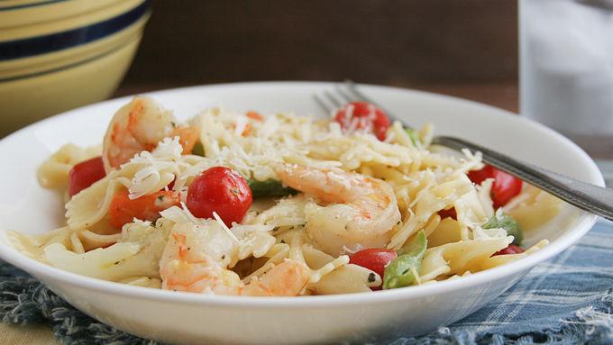 Lemon Herb Shrimp and Pasta