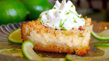 Key Lime-Cream Cheese Crumble Cake