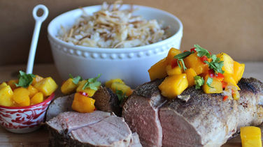 Pork Loin with Mango Sauce