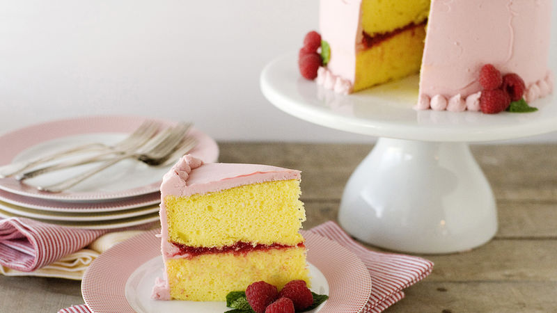 Lemon-Raspberry Celebration Cake