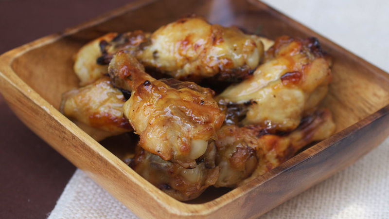 Apple Bourbon Chicken Wings