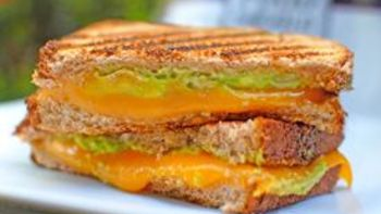 Spicy Guacamole Grilled Cheese Sandwich