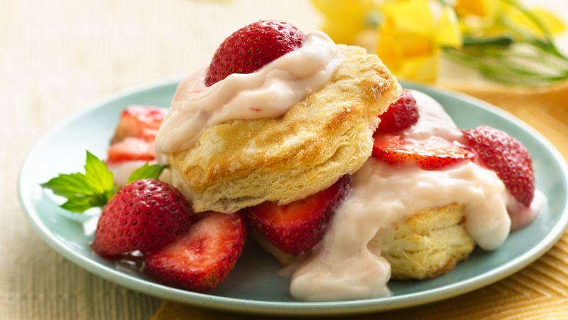 Strawberry-Custard Shortcakes
