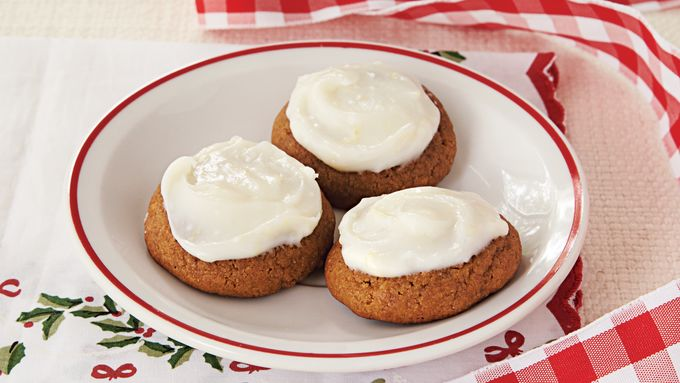 Lemon-Frosted Ginger Cookies