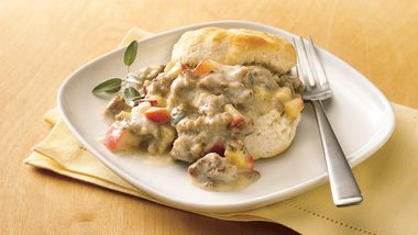 Biscuits with Sausage-Apple Gravy