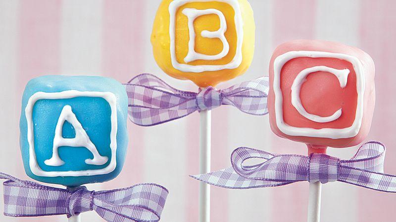 Baby Block Cake Pops