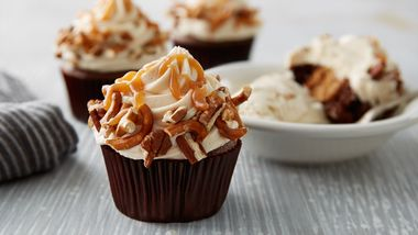 Sky-High Salted Caramel Chocolate Cupcakes