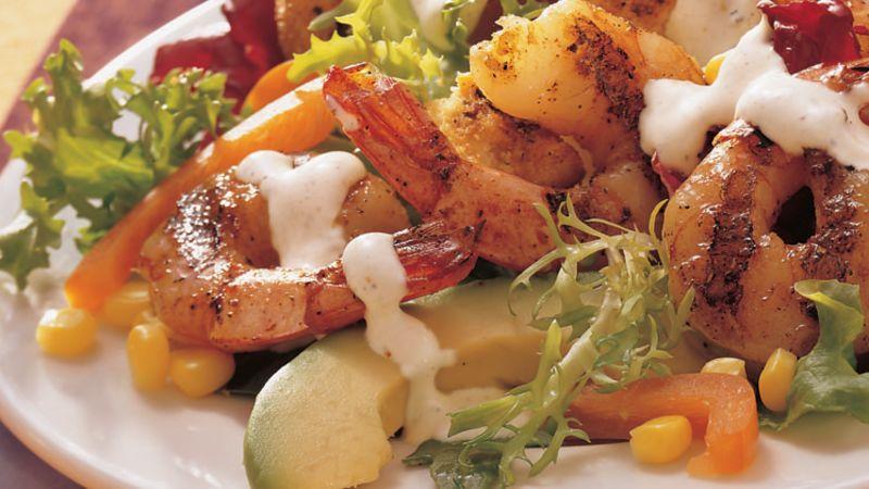 Barbecued Shrimp Salad