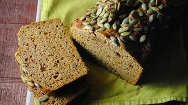 Peanut Butter Pumpkin Breakfast Bread