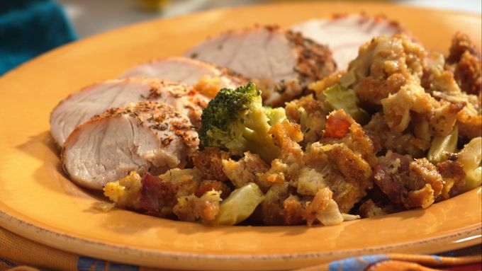 Southern Turkey-Stuffing Bake