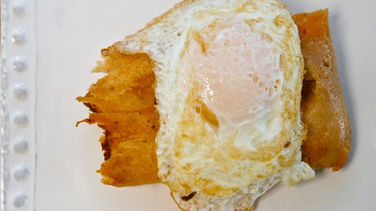 Fried Tamale and Egg