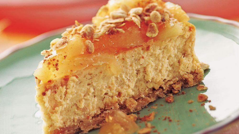 Apple Cinnamon Streusel Cheesecake