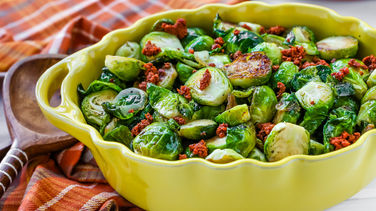 Brussel Sprouts with Chorizo