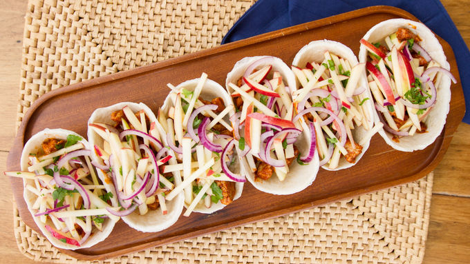 Pork and Apple Ten Minute Taco Boats
