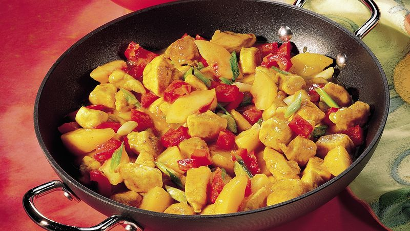 Curried Chicken and Peaches