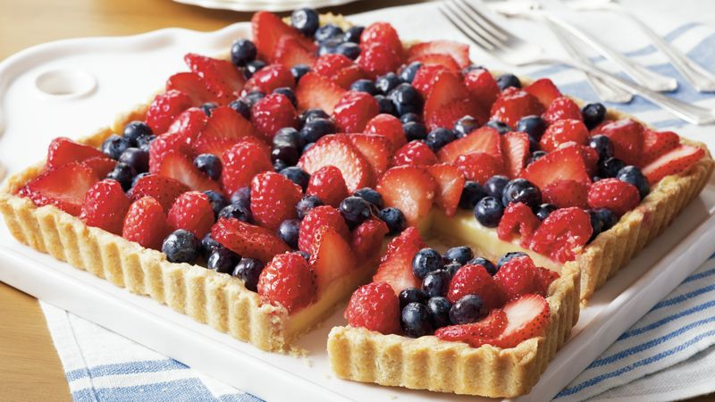 Fresh Fruit-Custard Tart