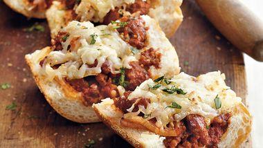 Italian Sausage Bread Pizza