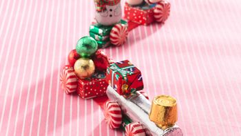 Holiday Candy Trains