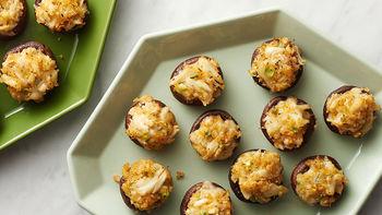 Crab and Fontina-Stuffed Mushrooms