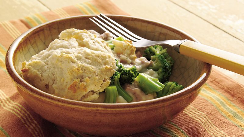 Broccoli and Tuna on Biscuits