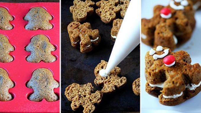 Gingerbread Men Whoopie Pies