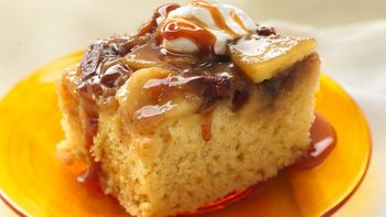 Warm Caramel Apple Cake
