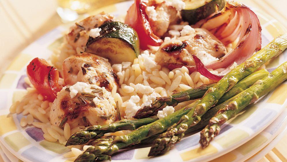 Mediterranean Chicken-Vegetable Kabobs