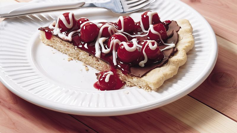 Chocolate Cherry Cookie Tart