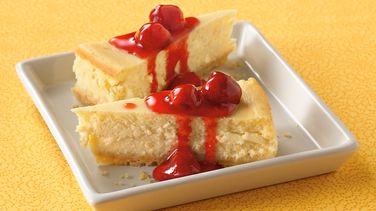 Key Lime Cheesecake with Raspberry Sauce