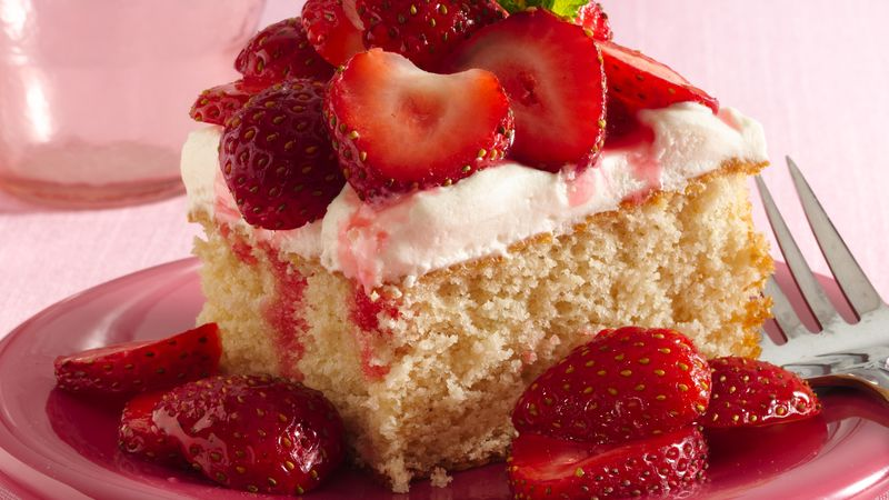 Strawberry Shortcake Squares