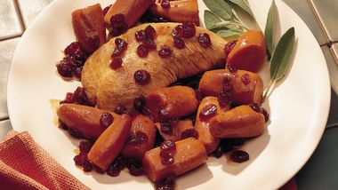 Turkey Smothered with Maple Sweet Potatoes