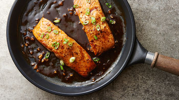Honey Balsamic Salmon Skillet for Two