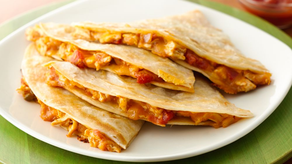 Chicken and Squash Quesadillas recipe from Pillsbury.com
