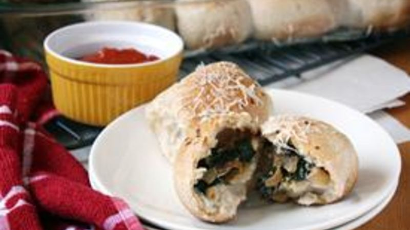 Chevre, Onion and Spinach Stuffed Rolls