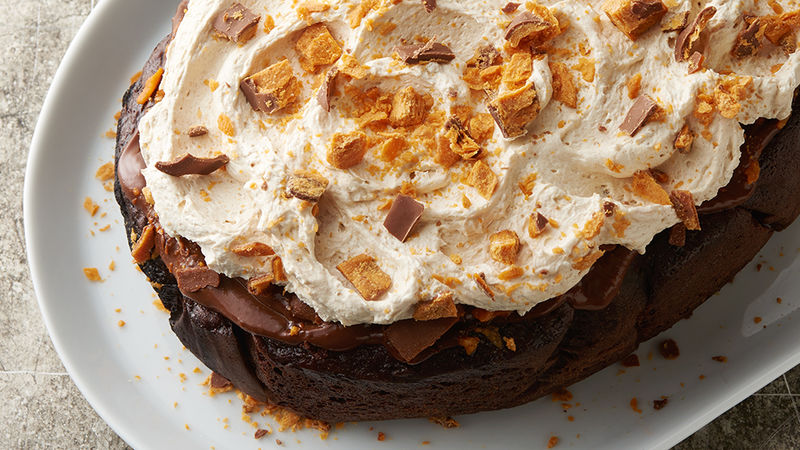 Slow-Cooker Butterfinger™ Chocolate Poke Cake