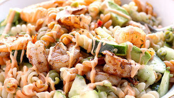 Spicy Shrimp Pasta Salad
