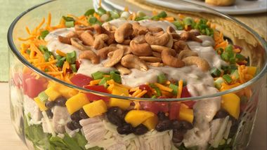 Gluten-Free Layered Caribbean Chicken Salad
