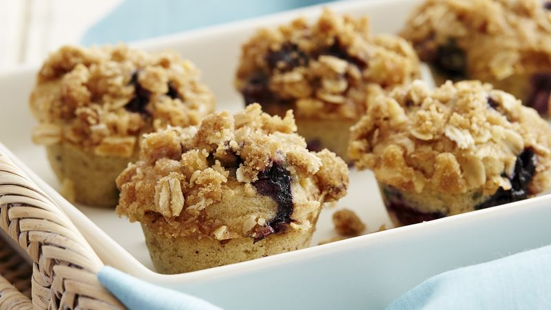 Gluten-Free Mini Blueberry Muffins with Streusel