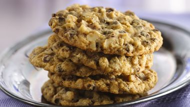 Slice and Bake Oatmeal Chocolate Chip Cookies