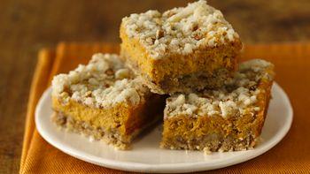 Gluten-Free Pumpkin Streusel Cheesecake Bars